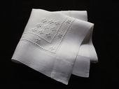 finest linen embroidered handkerchief
