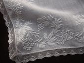 whitework embroidery lawn handkerchief