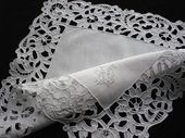 Richelieu embroidery wedding handkerchief