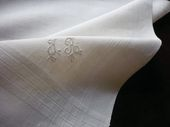 pure linen pocket squares monogram JR