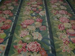 French luxury textiles antique floral tapestry