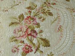 antique French textiles floral tapestry curtains