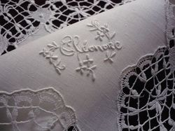 fine lace and embroidered hanky