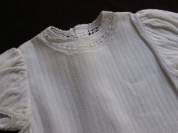 French vintage baby clothes infant blouses