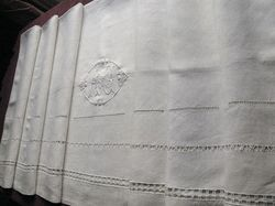 organic embroidered linen sheet