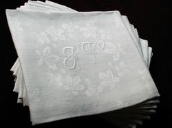 embroidered luxury linen damask napkin service