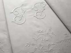 finest embroidered linen sheet