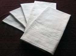 elegant white French jacquard hand towels