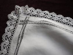 luxury linen and lace bedding white pillowcase