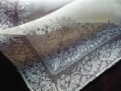 finest embroidered wedding handkerchief