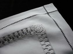 quality embroidered white linen pillow shams