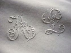 finest embroidered linen euro shams