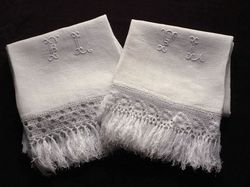 finest pure linen damask hand towels
