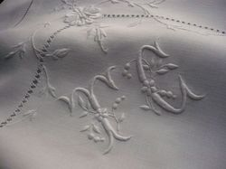 luxury embroidered linens monogram TC