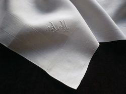 finest linen pocket squares monogram AM