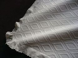 luxury white cotton pique euro sham