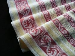 French cotton jacquard vintage hand towels