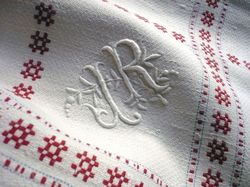 French country guest towels monogram JR