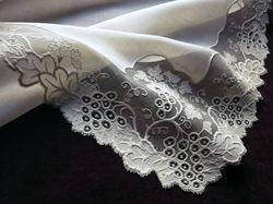 fine antique embroidered handkerchief