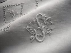 finest embroidered bed linens monogram SG