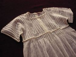 French art deco infant dress embroidery tulle