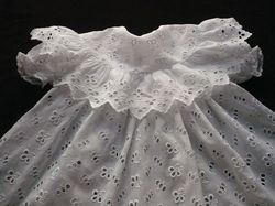 quality baby dresses white cutwork embroidery