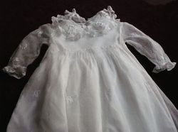 elegant baby dress embroidered Christening gown