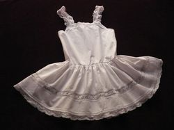 antique French children's clothing baby dress