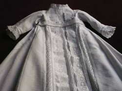 finest cotton pique Christening gown circa 1900