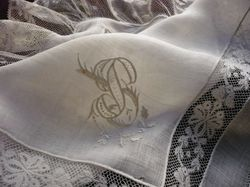 finest lace marriage handkerchief
