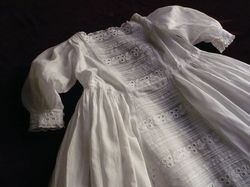 finest whitework embroidered Christening gown