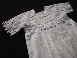 luxury toddler clothes French cotton pique dress