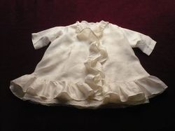 elegant baby clothes silk and lace ensemble