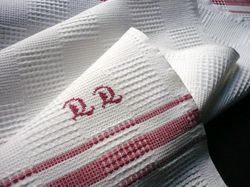finest cotton pique fingertip towels monogram DD
