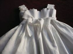 elegant baby clothes pique Christening gown
