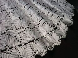 luxury French bedding hand made crochet coverlet