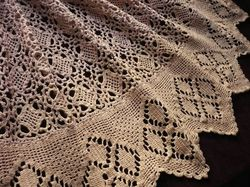 luxury bedding French hand crocheted coverlet