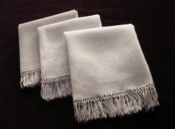 French luxury linen damask hand towels