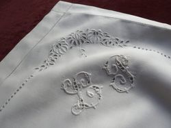 luxury fine linen pillowcases monogram RR