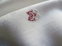 finest quality linen hand towels monogram CD