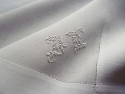 bridal handkerchief Richelieu embroidery