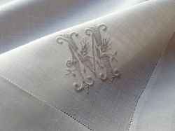 finest men's pocket square monogram J