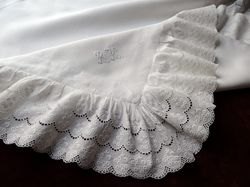 finest luxury linens monogram VB
