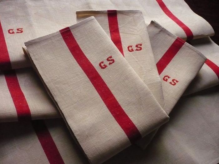 French pure linen dish towels