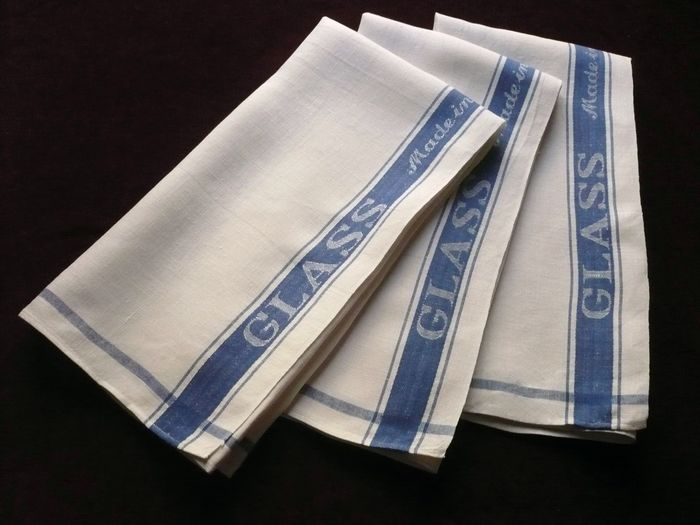 vintage Irish linen glass towels