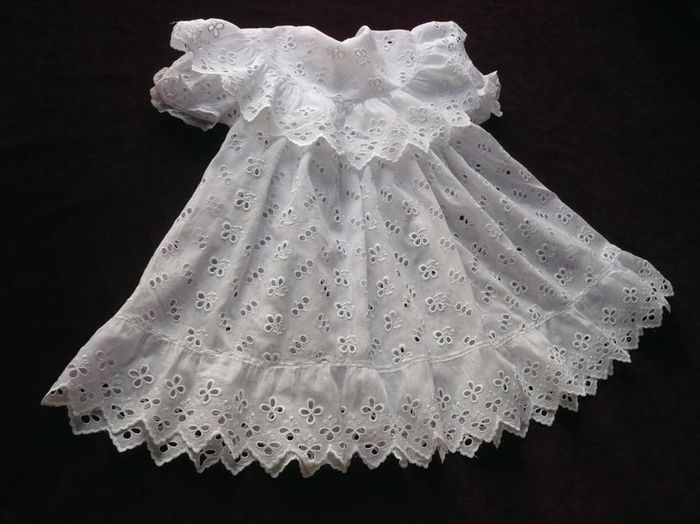 antique embroidered baby dress baptism gown
