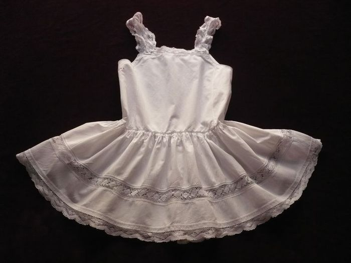 antique cotton and lace baby dress