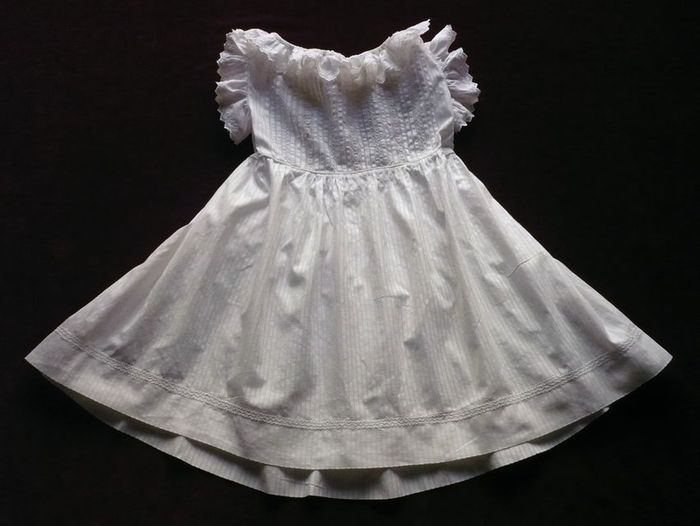 antique lace and embroidered baby dress