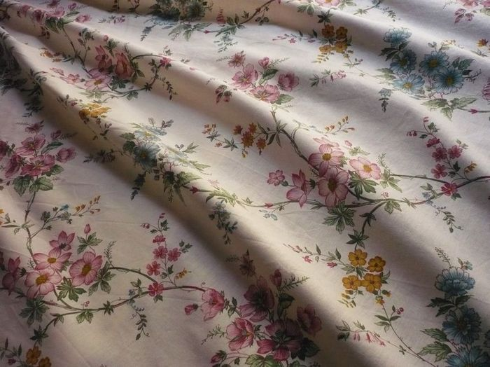 vintage floral print French fabric