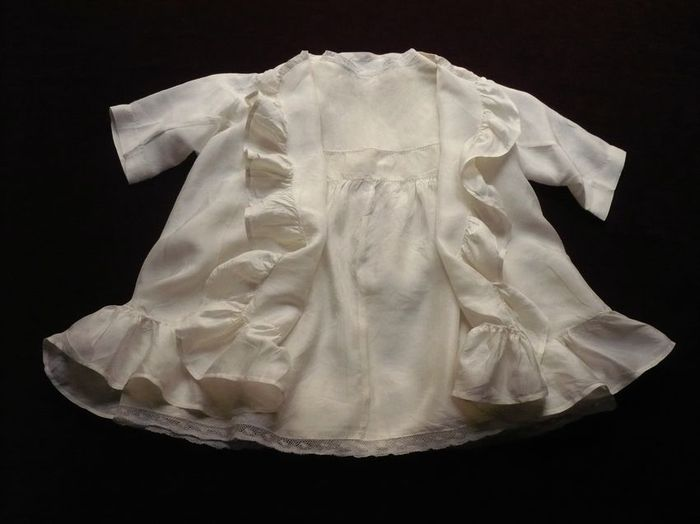 antique silk baby dress and jacket ensemble
